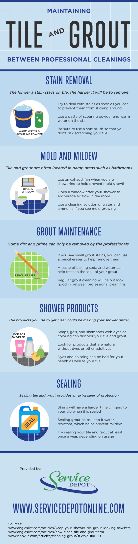 Tile and Grout Cleaning Infographic